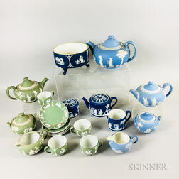 Nineteen Wedgwood Jasper Tableware Items