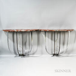 Pair of Art Deco Console Tables from the Collection of John Lennon and Yoko Ono