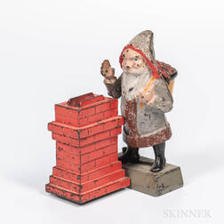 Cast Iron Santa Claus Mechanical Bank