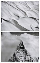 Bradford Washburn (American, 1910-2007)      Two Photographs: Summit of the Matterhorn