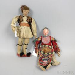 Two Small Cloth Dolls