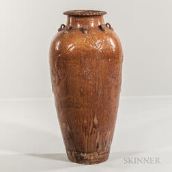 Tall Martaban Storage Jar