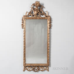 Gilt and Carved Wood Harvest Mirror