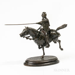 Cast Bronze Sculpture of a Knight