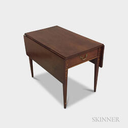 Federal-style Inlaid Cherry Drop-leaf Table