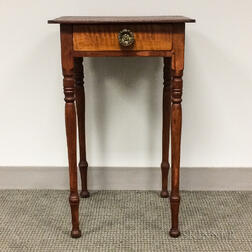 Federal Maple and Pine One-drawer Stand