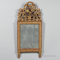 Georgian-style Giltwood Carved Mirror