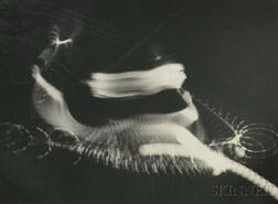 "Harold E. ""Doc"" Edgerton (American, 1903-1990)      Swirls and Eddies of a Tennis Stroke"