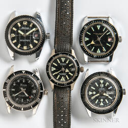 Five Vintage Dive Watches