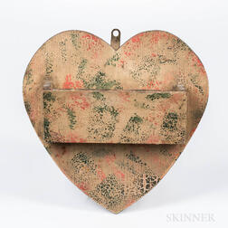 Heart-shaped Painted Wall Pocket