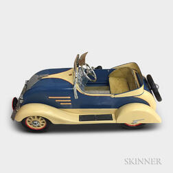 Chrysler Airflow Polychrome Steel Pedal Car