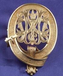 Antique Scottish Silver Gilt Brooch
