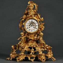 Tiffany & Co. Dual Escape Wheel Ormolu Shelf Clock
