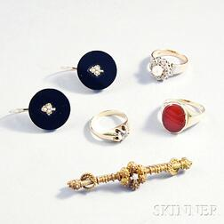 Six Pieces of Gold Jewelry