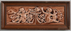 Two Framed Possibly Low Art Pottery Tiles