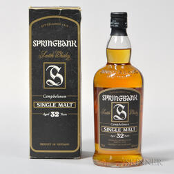 Springbank 32 Years Old, 1 750ml bottle (oc)