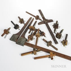 Sixteen Woodworking Measuring or Marking Tools