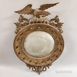 Federal-style Carved Composition Convex Mirror