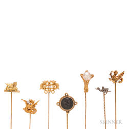 Collection of Antique and Art Nouveau Stickpins
