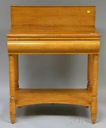 Empire Tiger Maple Washstand with Drawer