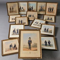 Mansion & Eschauzier British Royal Navy and Marines Uniform Prints