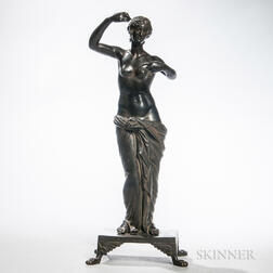 Continental Grand Tour Bronze Figure of a Woman