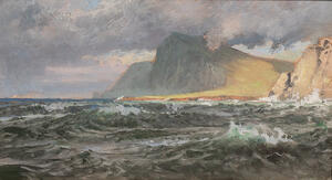 William Trost Richards (American, 1833-1905)      Approaching Storm, Isle of Hoy