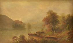 American School, 19th Century      Pair of Hudson River School Landscapes