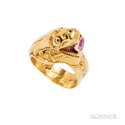 Antique High-karat Gold Ring