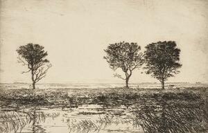 Frank Weston Benson (American, 1862-1951)      Two Impressions of Marshes at Long Point