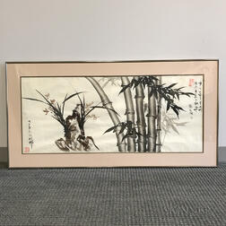 Two Ink Bamboo Paintings