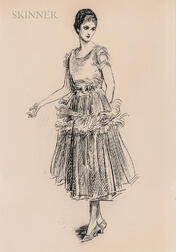 Charles Dana Gibson (American, 1867-1944)      A Fashionable Young Lady