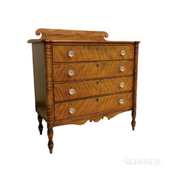 Federal Tiger Maple Chest of Drawers