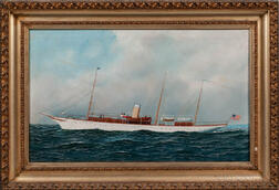 Attributed to Antonio Nicolo Gasparo Jacobsen (Danish/American, 1850-1921)      American Steam Yacht