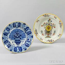 Two Dutch Delft Ceramic Chargers