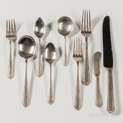 "Manchester Silver Co. ""Park Avenue"" Pattern Sterling Silver Flatware Service"