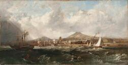 British School, 19th Century      Ships at the Scottish Port of Leith