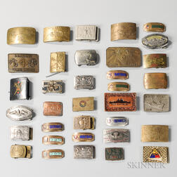 Group of U.S. Navy and Marine Buckles