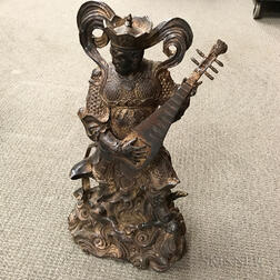 Large Bronze Figure of an Immortal