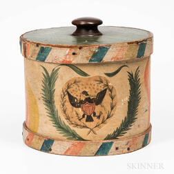 Painted Drum-form Box
