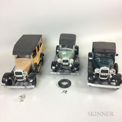Three Jim Beam Whiskey Bottle Cars