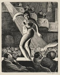 Mabel Dwight (American, 1876-1955)      Houston Street Burlesque