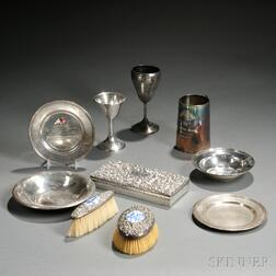 Ten Sterling Silver and Silver Plate Yachting Trophies