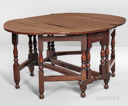 Baroque-style Yewwood Gate-leg Table