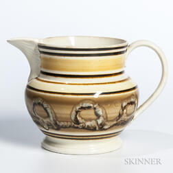Cable Slip-decorated Jug