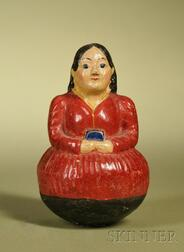 Early Roly Poly Child with Red Dress