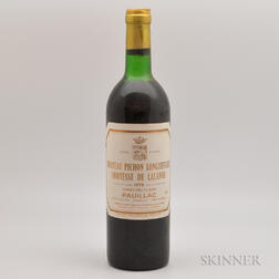 Chateau Pichon Lalande 1978, 1 bottle