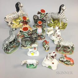 Group of Staffordshire Animals