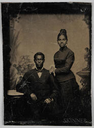 Tintype Depicting an African American Couple
