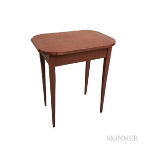 Federal Red-painted Pine Cut-corner Stand